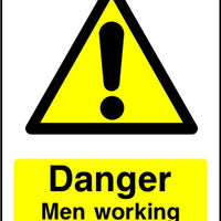 Danger Men Working Overhead sign