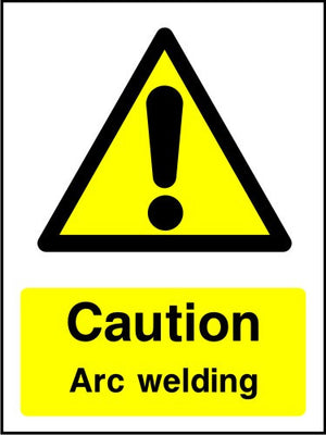 Caution Arc Welding sign