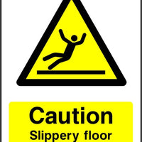 Caution Slippery Floor Surface safety sign