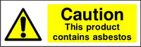 Caution This Product Contains Asbestos sign