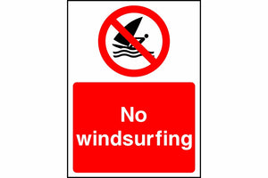 No windsurfing sign