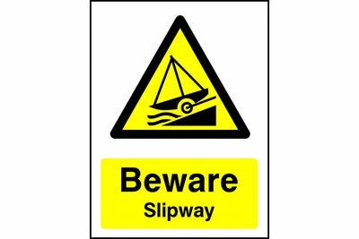 Beware Slipway sign
