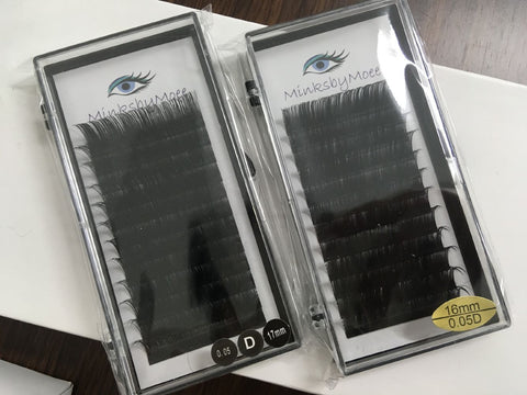 Individual Eyelash Extension , 0.05 D curl, 12row/tray