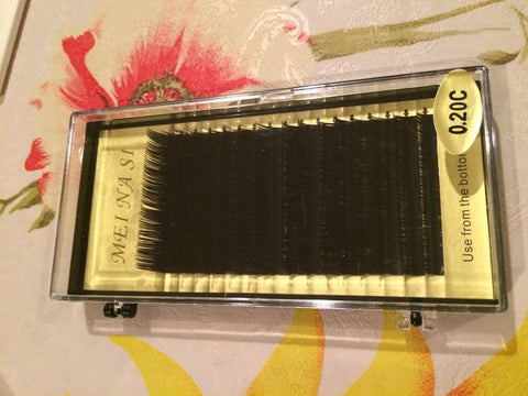 Individual Eyelash Extension , 0.20 C curl,16row/box, Mix length,from 10mm to 17mm