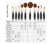 Makeup Brush, 10 pieces for $20.00