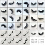 3D MINK EYELASHES 1000pair/lot Free Shipping Mixed Different Styles