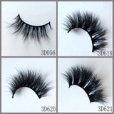 3D MINK EYELASHES , 40pair/lot, free shipping,mixed different 3D styles