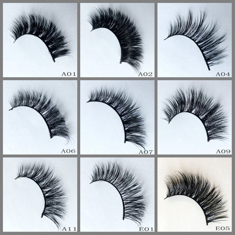 Mink Lashes 50pair/lot Free Shipping Mixed Different Styles