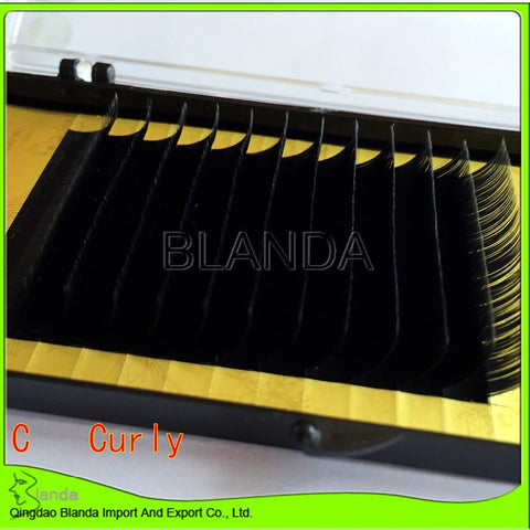 Individual Eyelash Extension , 0.15 C curl,12row/tray
