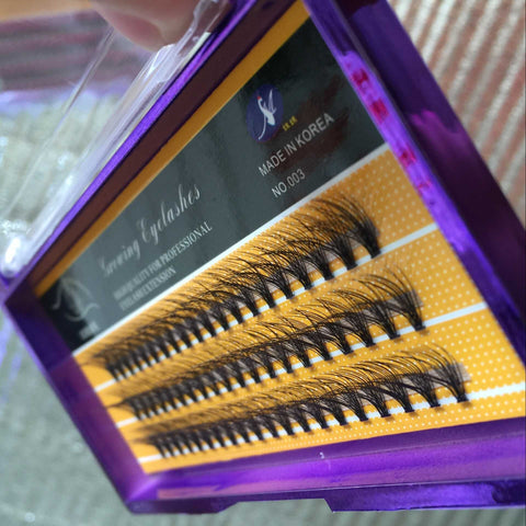 Individual Eyelashes Extension , 3D double mink eyelashes ,D curl