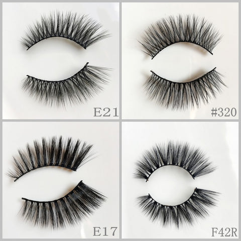 Silk Eyelash 400pair/lot Free Shipping Mixed Different Styles