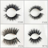 Faux Mink Eyelash 100pair/lot Free Shipping Mixed Different Styles
