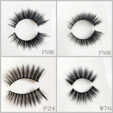 Silk Eyelash 200pair/lot Free Shipping Mixed Different Styles