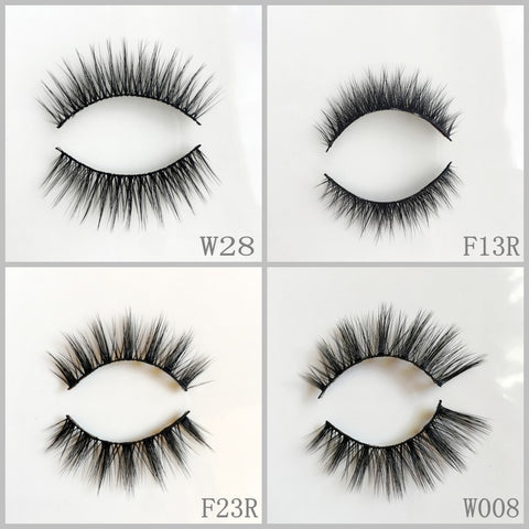 Faux Mink Eyelash 50pair/lot Free Shipping Mixed Different Styles