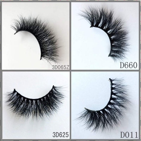 3D MINK EYELASHES , 300pair/lot, free shipping,mixed different 3D styles