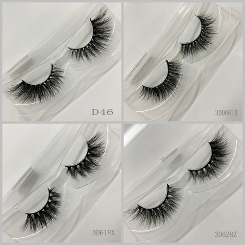 3D MINK EYELASHES , 500pair/lot, free shipping,mixed different 3D styles