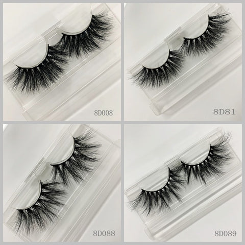 3D MINK EYELASHES 200pair/lot Free Shipping Mixed Different Styles