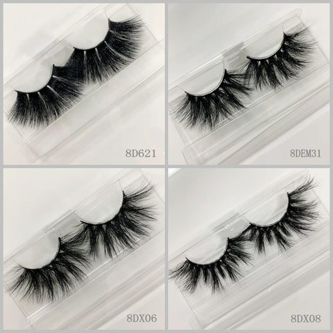 3D MINK EYELASHES 300pair/lot Free Shipping Mixed Different Styles