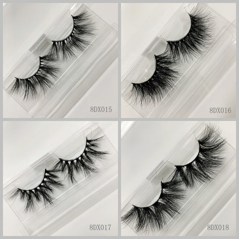 3D MINK EYELASHES 60pair/lot Free Shipping Mixed Different Styles