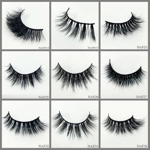 Mink Lashes 1000pair/lot Free Shipping Mixed Different Styles