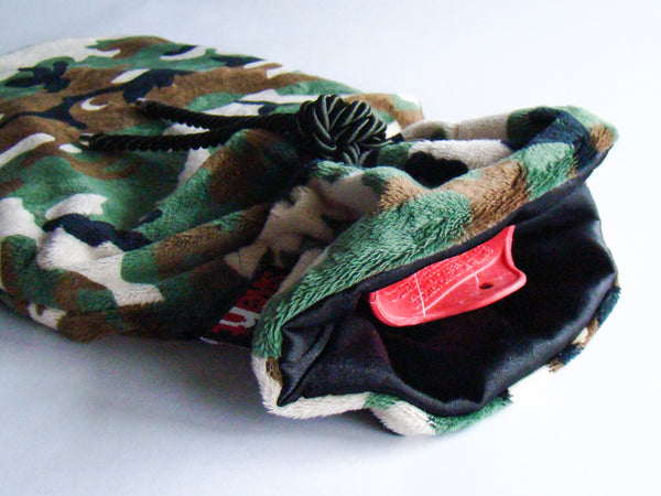 Camo Plush Cover with Deluxe 2.0L Hot Water Bottle - Jungle
