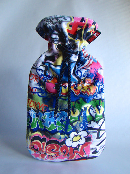 Graffiti Plush Cover with Deluxe 2.,0L Hot Water Bottle