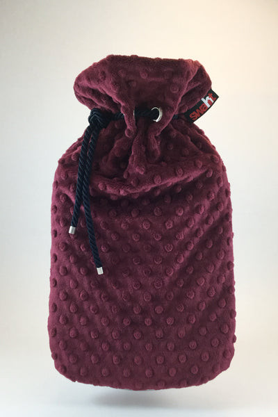 Merlot Plush Cover with Deluxe 2.0L Hot Water Bottle