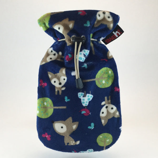 Deer, Deer! Plush Hot Water Bottle Cover incl. 0.8L Fashy Non-Latex Bottle