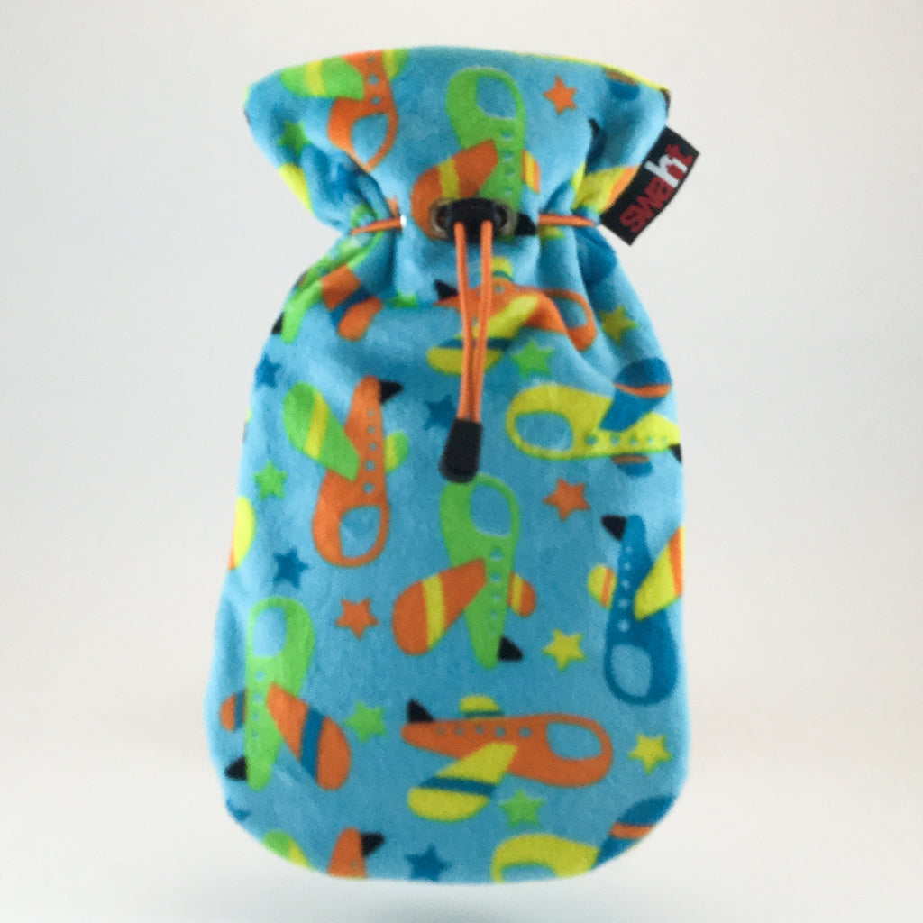 Blue Skies Plush Hot Water Bottle Cover incl. 0.8L Fashy Non-Latex Bottle