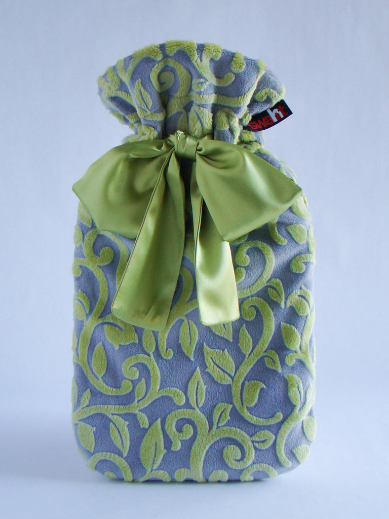 Vines Plush Hottie Cover - Chartreuse