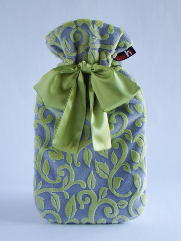 Vines Plush Cover with Deluxe 2.0L Hot Water Bottle - Chartreuse