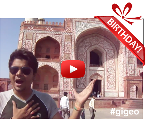 Gigeo® Personalized Videos - HISTORICAL AKBAR PALACE, INDIA BIRTHDAY VIDEO GREETING - WhoLovesYou.ME - 1