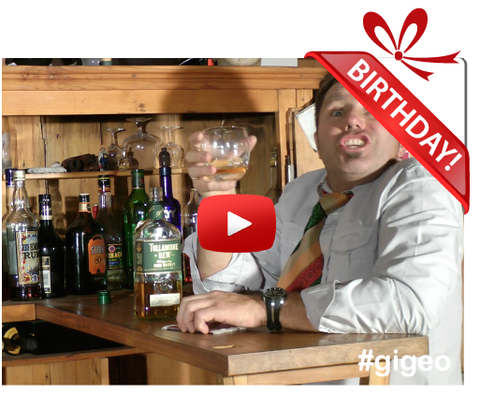 Gigeo® Personalized Videos - DRUNKEN CHEERS BEHIND THE BAR BIRTHDAY VIDEO GREETING - WhoLovesYou.ME - 1
