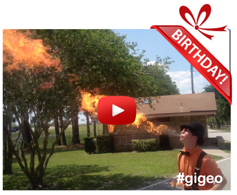 Gigeo® Personalized Videos - FIRE SPITTING BIRTHDAY VIDEO GREETING - WhoLovesYou.ME - 1