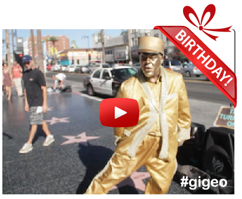 Gigeo® Personalized Videos - GOLD MINE STATUE DANCE BIRTHDAY VIDEO GREETING - WhoLovesYou.ME - 1