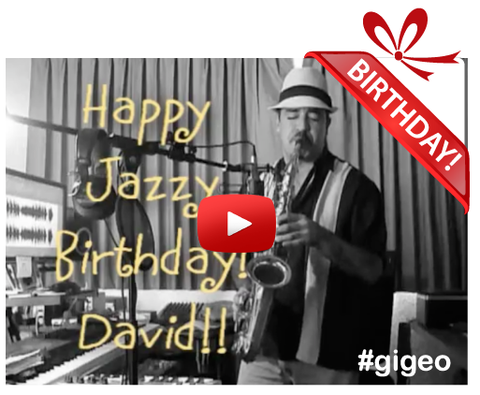 Gigeo® Personalized Videos - JAZZY SAX MUSICAL BIRTHDAY GREETING - WhoLovesYou.ME - 1