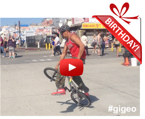 Gigeo® Personalized Videos - JESSE PUENTE, BMX FREESTYLE CHAMP BIRTHDAY VIDEO GREETING - WhoLovesYou.ME - 1