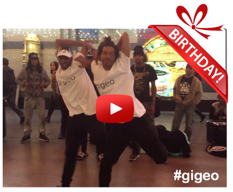 Gigeo® Personalized Videos - MARCUS and RAY CONTORTIONIST DANCERS BIRTHDAY VIDEO GREETING - WhoLovesYou.ME - 1
