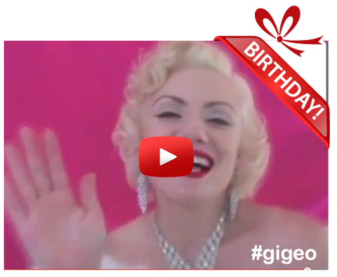 Gigeo® - Unique Gift Ideas For Dads - MARILYN MONROE SINGS <br> Personalized Shout-Out - WhoLovesYou.ME - 1