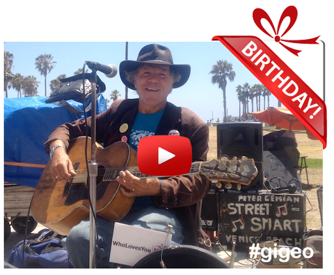Gigeo® Personalized Videos - PETER DEMIAN SINGS IN A BIRTHDAY VIDEO GREETING - WhoLovesYou.ME - 1
