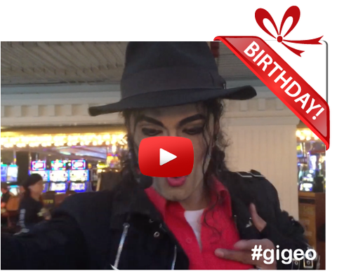 Gigeo® Personalized Videos -  MICHAEL JACKSON TRIBUTE BIRTHDAY VIDEO GREETING - WhoLovesYou.ME - 1
