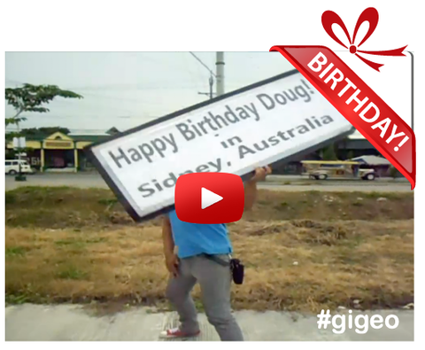 Gigeo® Personalized Videos - SIGN SPINNING BIRTHDAY VIDEO GREETING - WhoLovesYou.ME - 1