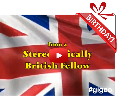 Gigeo® Personalized Videos - FUNNY STEREOTYPICAL BRIT BIRTHDAY VIDEO GREETING - WhoLovesYou.ME - 1