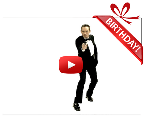 Gigeo® James Bond 007 Personalized Birthday Greetings by James Taggart