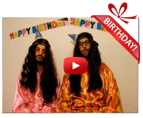 Gigeo® Two Hippies Personalized Birthday Greetings
