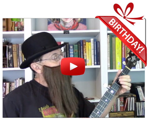 Gigeo® Banjo Man Personalized Birthday Greeting