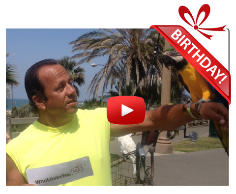 Gigeo® Bird Man of Santa Monica Personalized Birthday Greetings