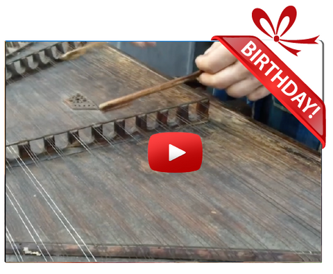 Gigeo® Hammer Dulcimer Musical Personalized Birthday Greetings