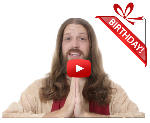 Gigeo® Comical Jesus Personalized Birthday Greetings