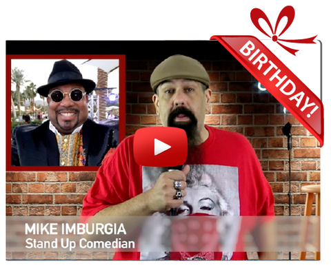 Gigeo® Comedy Roast Personalized Birthday Greetings by Mike Imburgia